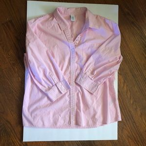 IZOD Women's Pink Button Up with Gems Size XL